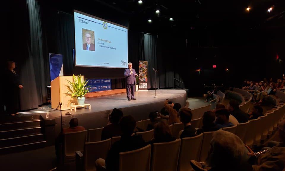 President Jim Murdaugh speaks at Tallahassee Community College's inaugural STEM Summit
