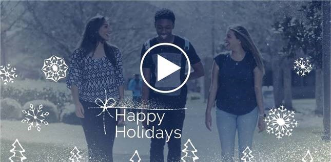 Happy Holidays Video 2019 screemshot from Tallahassee Community College