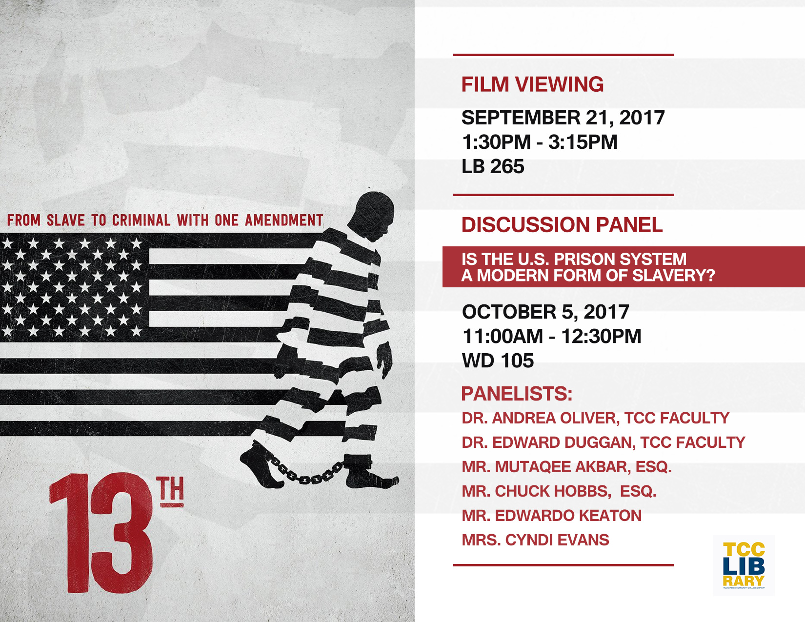 Is the U.S. Prison System a Modern Form of Slavery? 13th film Discussion Panel