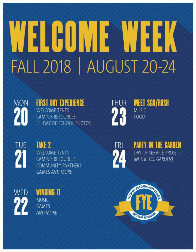 Kick off the new semester with Welcome Week for all new and returning  students. Enjoy activities and giveaways around campus all week long to  celebrate the ... 4fb02faf4b706