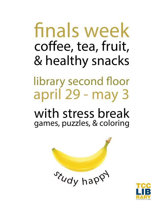 TCC Library: Finals Week Stress Break
