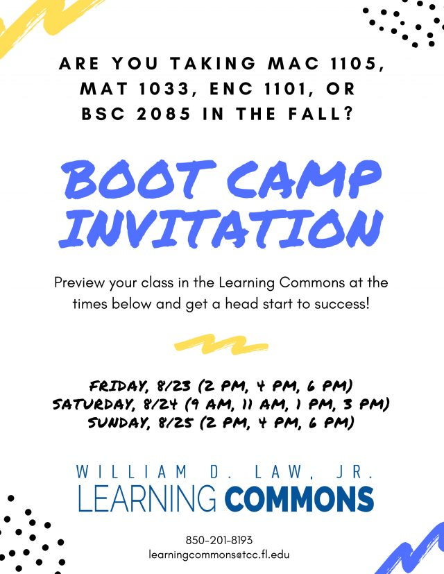 Learning Commons Boot Camp