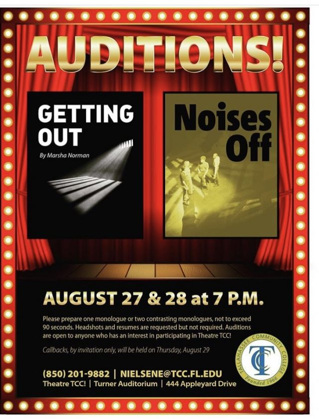 Theatre TCC! Open Auditions