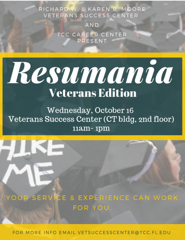 Resumania in the TCC Veterans Center