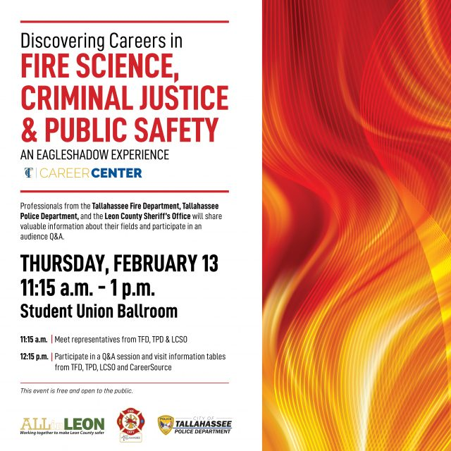 Fire Science, Criminal Justice and Public Safety Careers Info Session