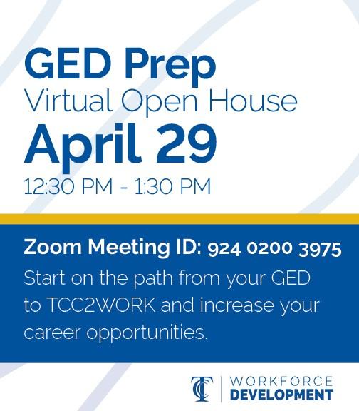 GED Prep Virtual Open House