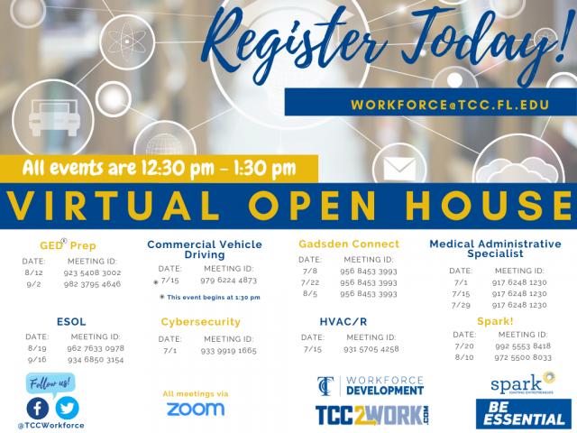Virtual Open House – Workforce Programs