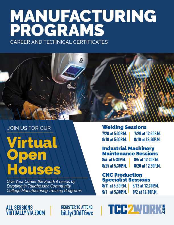 Manufacturing Programs Virtual Open House